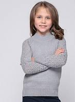 Свитер школьный серый для девочки 128-152