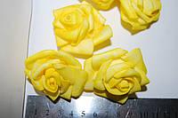 Роза голова из фома. Желтая