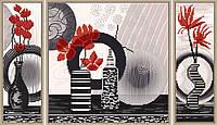 Набор для вышивки бисером   Красные цветы      НД 6592