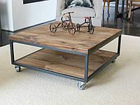 Журнальный стол на колесиках в стиле лофт