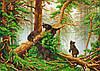 """Схема для вышивки бисером """"Утро в сосновом лесу"""", А3"""