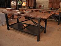 Стол обеденный с полкой в стиле лофт