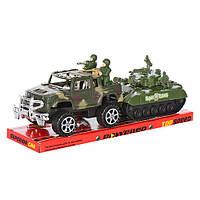 Игровой набор Джип с танком инерционные 333