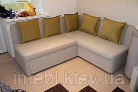 Мягкий спальный кухонный уголок с подушками (Молочный)