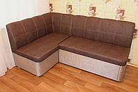 Кухонный мягкий уголок со спальным местом и ящиком для хранения (Коричнево-розовый)