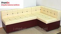 Уголок для кухни со спальным местом и нишей молочно-коричневый, фото 1