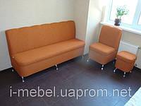 Комплект мягкой мебели для кухни кирпичного цвета