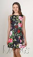 Красивое платье для девочки подростка с цветочным принтом рост 146;152;158;164 , разные цвета