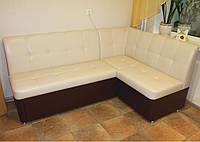 Мягкий кухонный уголок со спальным местом (Молочно-коричневый кож заменитель), фото 1