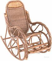 Садовое кресло качалка из натурального ротанга