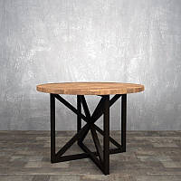 Стол обеденный круглый в стиле лофт
