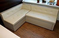 Кухонный уголок со спальным местом и нишей белый.