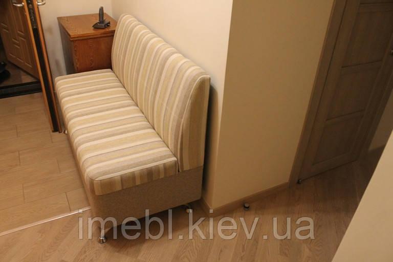 Мягкий диванчик с нишей в прихожую бежевый