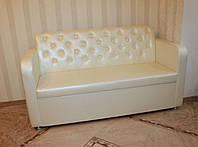 Кухонный диванчик с и нишей для хранения (Молочный)