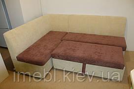 Кухонный уголок со спальным местом (коричнево-кремовый)