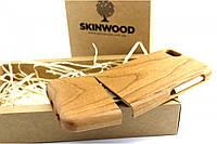 Эксклюзивный деревянный раскладной чехол Вишня для iPhone 6/6S, фото 1