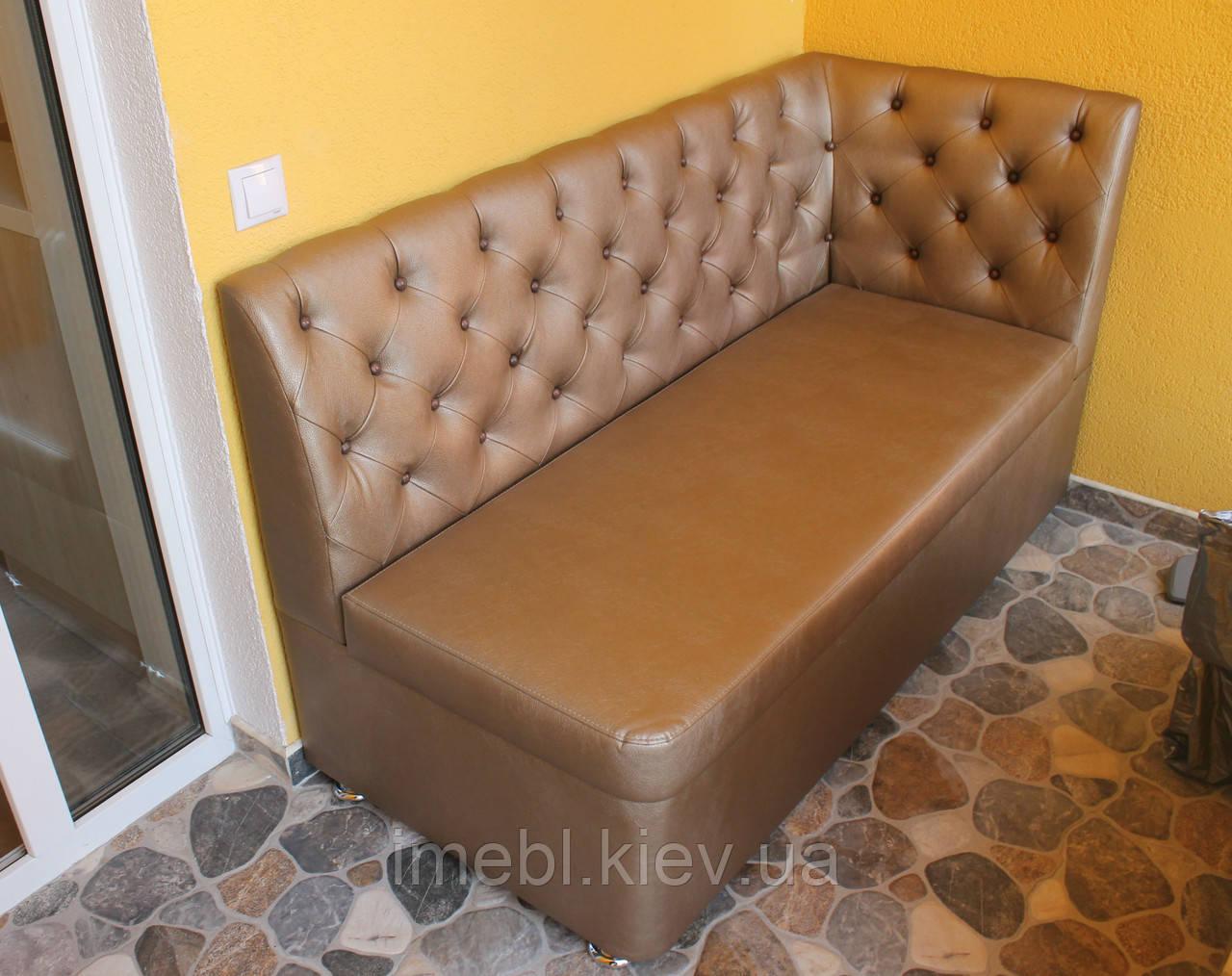 Кухонний м'який диванчик (бронзовий)