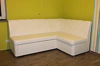 Мягкий кухонный уголок со спальным местом (Белый)