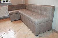 Мягкий диванчик на кухню с ящиками для хранения по размерам кухни цвета какао купить в Киеве.