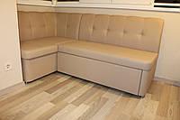 Мягкий кухонный уголок с ящиком для хранения и спальным местом (Бежевый)