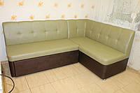 Мягкий кухонный уголок со спальным местом (оливково-бронзовый)