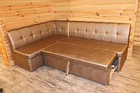Кухонный уголок в кожзаме с полиуретановым покрытием