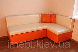 Кухонный уголок со спальным местом и нишей(молочный с аранжевым)
