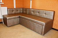 Кухонный уголок со спальным местом и нишей по индивидуальным размерам бронзовый.