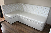 Кухонный мягкий уголок со спальным местом и ящиком (Белый)