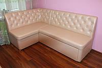 Кухонный мягкий уголок со спальным местом (Розовый)