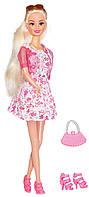 Городской стиль, набор с куклой 28 см, блондинка в розовом платье, Ася