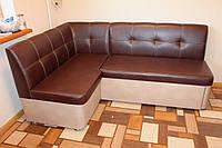 Угловой диван для кухни по размерам заказчика (коричневый)
