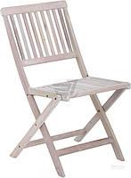 Садовое кресло стул складное из дерева светлого