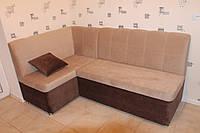 Мягкий кухонный диван по размеру кухни (Бежевый)