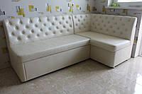 Кухонный мягкий уголок со спальным местом и ящиком белого цвета купить в Киеве