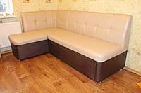 Уголок мягкий на кухню ящиком для хранения и спальным местом купить в Киеве