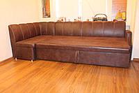 Кухонный диван со спальным местом и ящиком для хранения (Шоколадный)