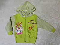 Кофта на молнии с капюшоном для девочки 86-98 (Венгрия)