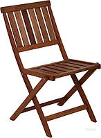 Садовое кресло стул складное из дерева темного