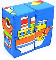 "Набор кубиков собери картинку ""Техника"" ""мягкая"" 4шт (62) ""РОЗУМНА ИГРАШКА"""