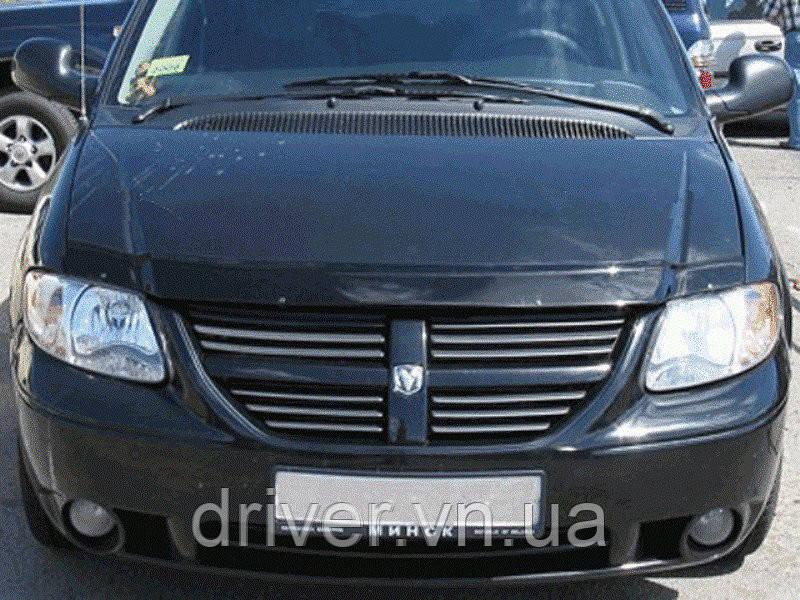 Дефлектор капота (мухобойка) Dodge Caravan IV 2001-2008