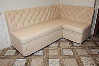 Уголок мягкий на кухню со спальным местом и ящиком для принадлежностей под размер.