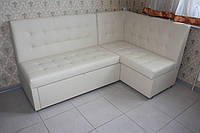 Кухонный уголок со спальным местом и ящиком белого цвета