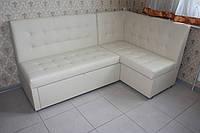 Кухонный уголок со спальным местом и ящиком белого цвета, фото 1