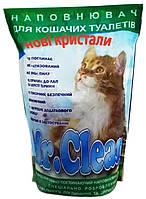 Наполнитель для кошек силикагелевый Mr. Clean 7,6 л, голубой