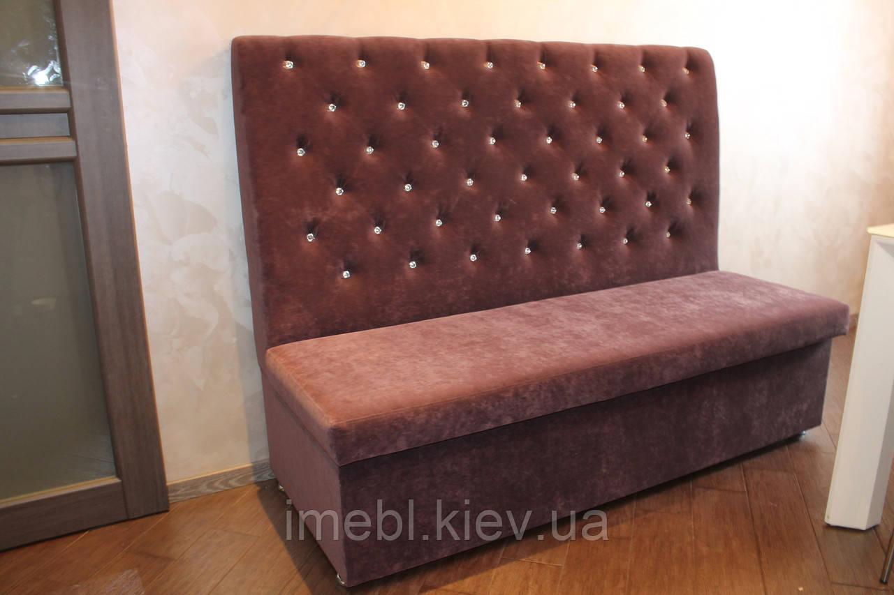 Лавка-диван мягкая для кафе ресторанов.