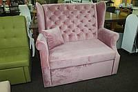 Мягкий диван для кафе ресторанов розового цвета.