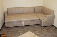 Мягкий уголок со спальным местом на кухню (Бежевый), фото 1