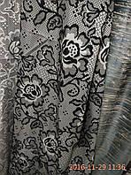 Штора черные с серым , фото 1