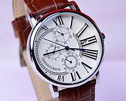 Наручные часы ROBAOGAR Silver с хронографом и датой